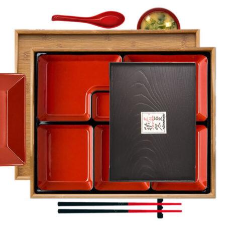 Bamboo Bento Set, Sushi & Side Tray
