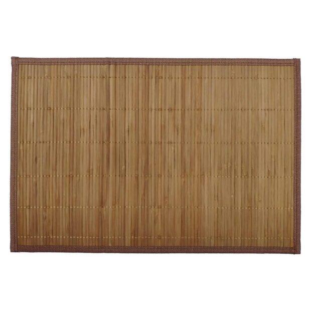 Bamboo Placemat Natural Brown Bottom