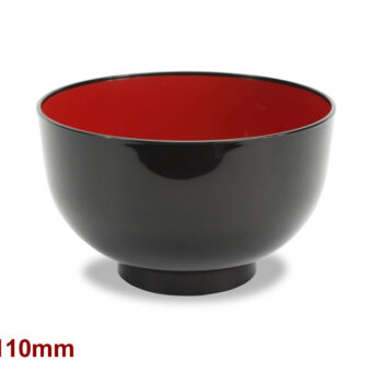 Small Soup Bowl Red &Amp; Black