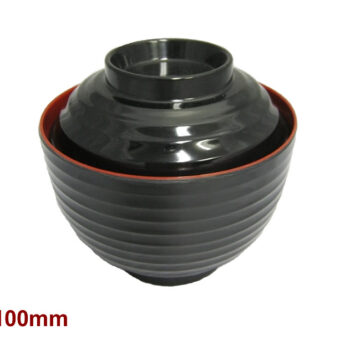 Miso Soup Bowl with Lid Ribbed