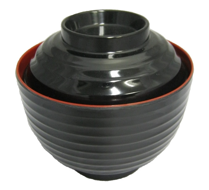 Ribbed Soup Bowl with Lid Small