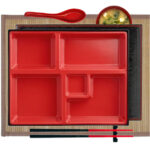 Traditional Bento Set & Bamboo Placemat