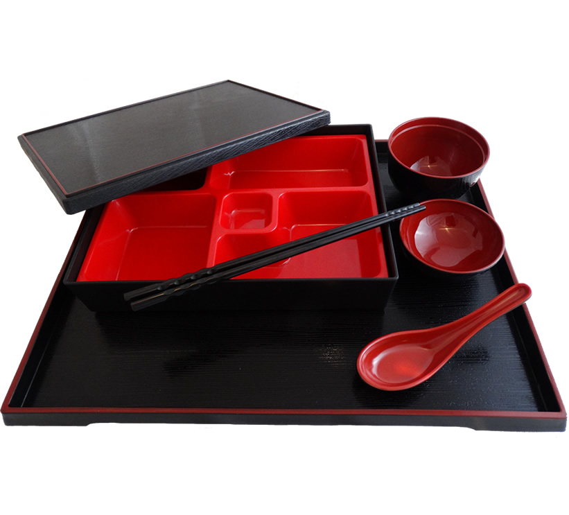 Bento Box Set with Serving Tray