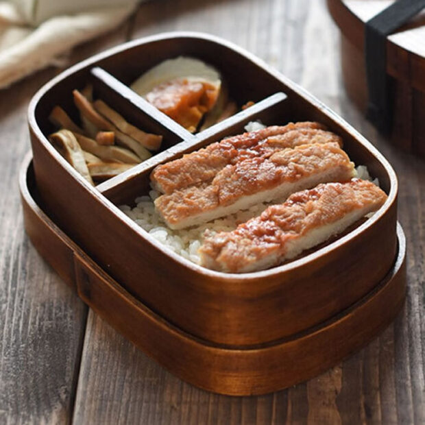 Japanese Style Wooden Lunch Box