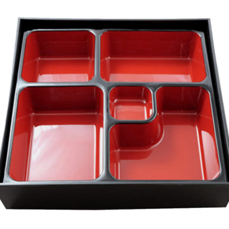 Bento Box Red Black