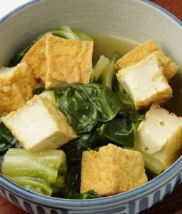 Komatsuna & Deep-Fried Tofu