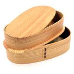 2 Tier Wooden Bento Box
