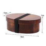 Willow Wood Oval Bento Box