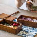 Camphor Wood Bento Box Set