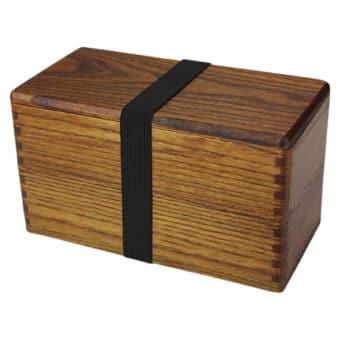 Camphor Wood Bento Box, Two Tier