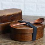 Dark Wood Bento Box