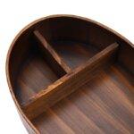 Dark Wood Bento Box Close Up