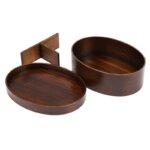 Dark Wood Bento Box Set