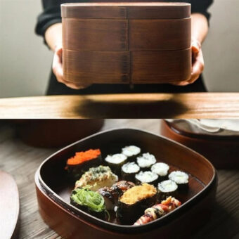 Japanese Wooden Lunch Box