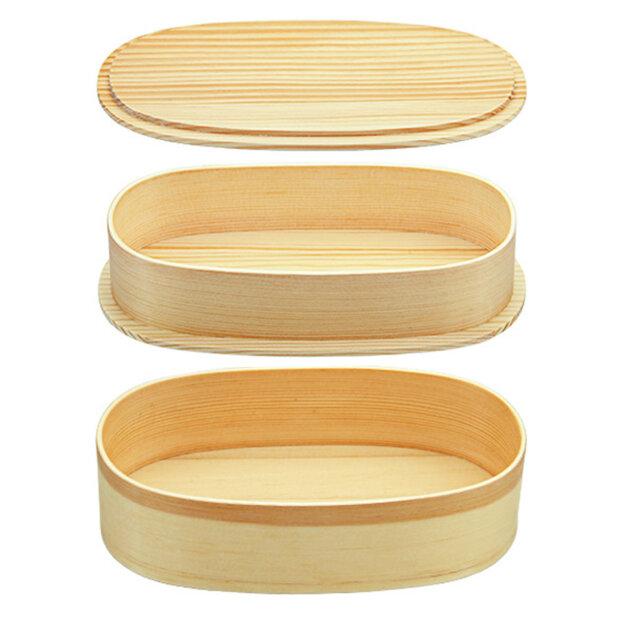 Light 2 Tier Wooden Bento Box 1