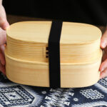 Light 2 Tier Wooden Bento Box 2