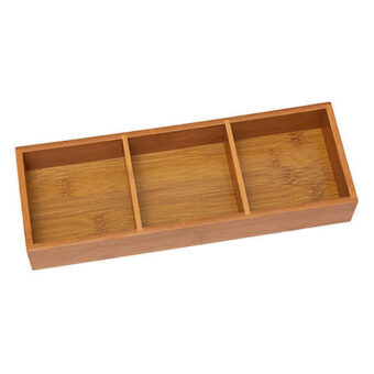 Bamboo 3 Compartment Tray