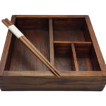 Wooden Bento Box & Chop Sticks