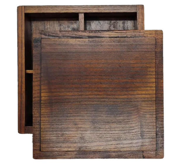 Wooden Bento Box Lid & Base
