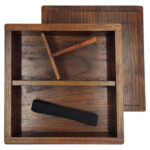Wooden Bento Box Lid, Base Divider & Strap