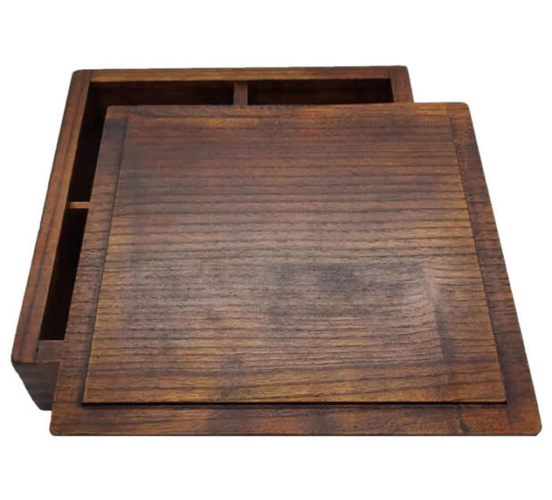 Wooden Bento Box Lid & Base Top