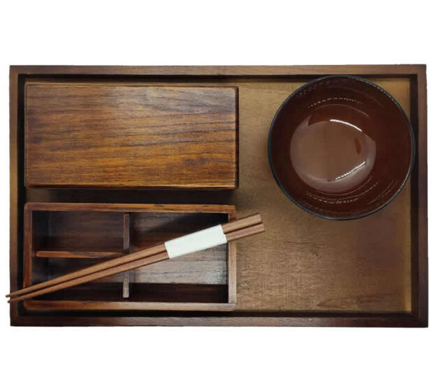 Wood Bento Box Set