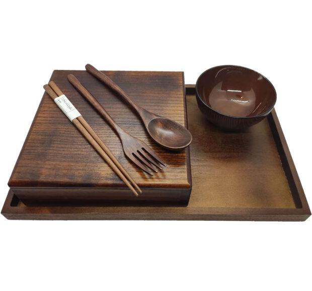 Wood Bento Box Sets