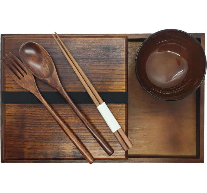 Wooden Bento Box Set