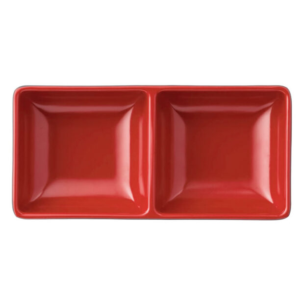 Japanese Red & Black Sauce Tray