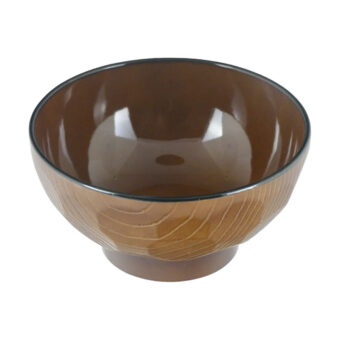 Lacquered Wood Grain Bowl