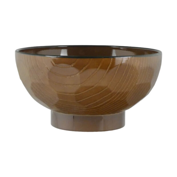 Lacquered Wood Grain Bowls