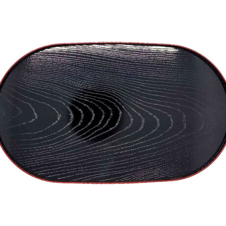Small Woodgrain Tray Red & Black