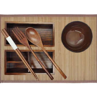 Two Tier Wood Bento
