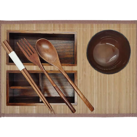 Two Tier Wood Bento
