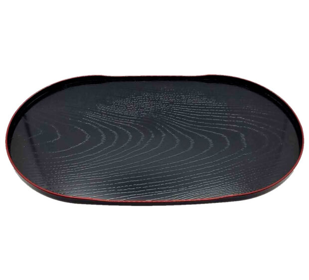 Woodgrain Tray Red & Black Small