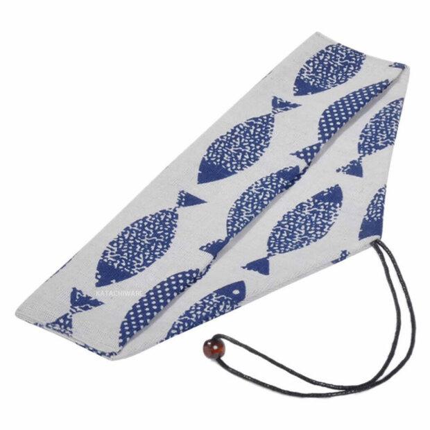 Blue Fish Chopstick & Cutlery Bag