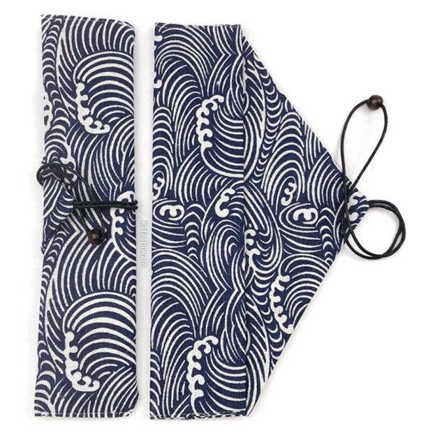 Blue Great Wave Chopstick & Cutlery Bag