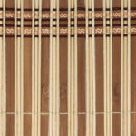 Bamboo Slatted Placemat, Natural Wood
