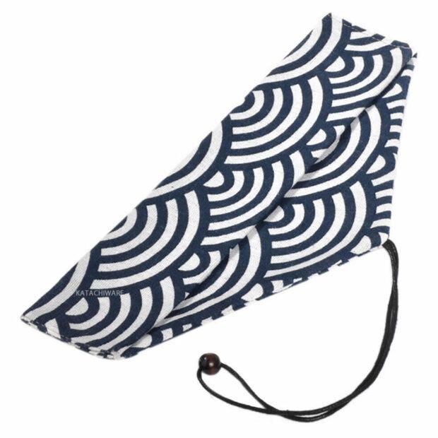 Seigaiha (Blue Ocean Wave) Chopstick & Cutlery Bag