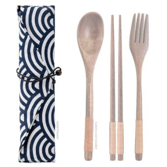 Japanese Wave Chopstick & Cutlery Bags
