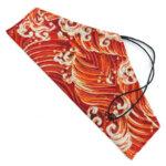 Orange Great Wave Chopstick & Cutlery Bags