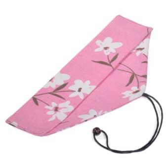 Pink Floral Chopstick &Amp; Cutlery Bag