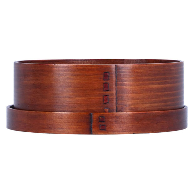 Willow Wood Oval Bento Box Side