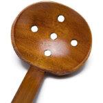 Wooden Long Handle Ramen Spoon & Holes