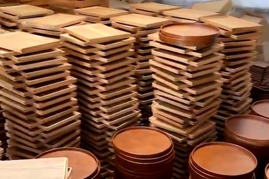 Bento Box Drying Process