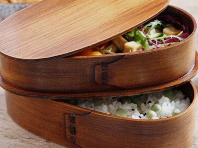 Natural Wood Bento Boxes