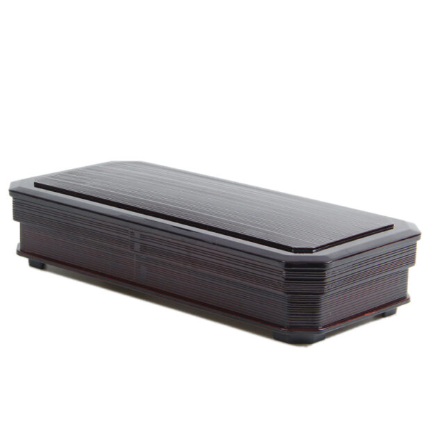 3 Compartment Long Bento Box Red & Black
