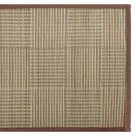 Checkered Bamboo Placemat Natural