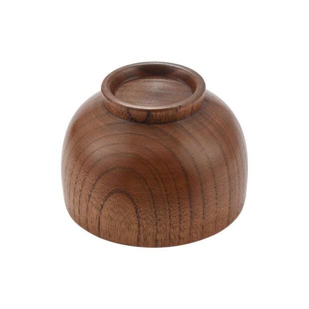 Natural Wood Miso Bowl Bottom