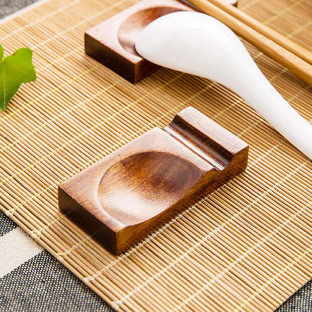 Wooden Chopstick & Spoon Rest